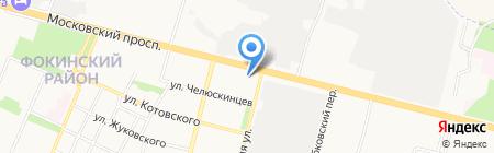 Сеть продуктовых магазинов на карте Брянска