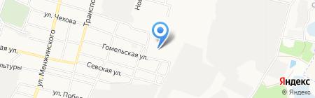 Чистюля на карте Брянска