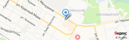 Автостоянка на ул. 2-я Мичурина на карте Брянска