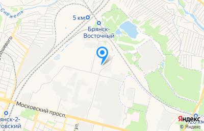 Местоположение на карте пункта техосмотра по адресу г Брянск, пер Московский, д 10