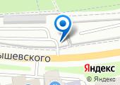 Автостоянка на ул. Чернышевского на карте