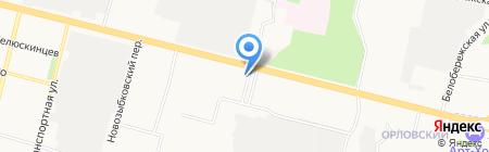 Заводской на карте Брянска