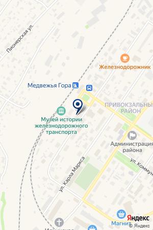 ЖЕЛЕЗНОДОРОЖНАЯ СТАНЦИЯ МЕДВЕЖЬЯ ГОРА на карте Медвежьегорска