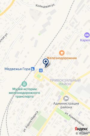 АВТОВОКЗАЛ МЕДВЕЖЬЕГОРСК на карте Медвежьегорска