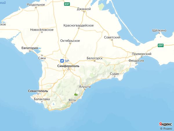 село Балки на карте