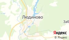 Отели города Людиново на карте