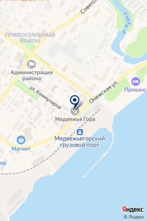 МЕДВЕЖЬЕГОРСКИЙ ПОРТ на карте Медвежьегорска