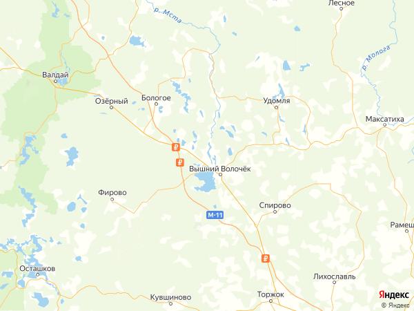 поселок Солнечный на карте