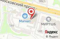 Схема проезда до компании Квадратный Метр в Брянске