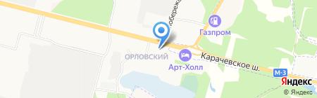 Ирэн на карте Брянска