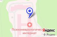 Схема проезда до компании ПСИХОНЕВРОЛОГИЧЕСКИЙ ИНТЕРНАТ в Медвежьегорске