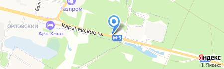 Медвежий угол на карте Брянска