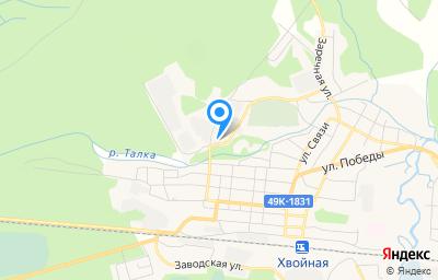 Местоположение на карте пункта техосмотра по адресу Новгородская обл, рп Хвойная, ул Кремса, д 2А, пом 1
