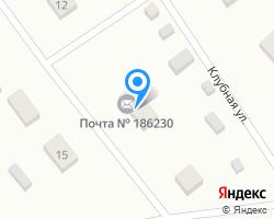 Схема местоположения почтового отделения 186230