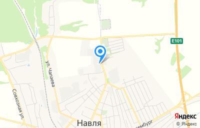 Местоположение на карте пункта техосмотра по адресу Брянская обл, рп Навля, ул Промышленная, д 8