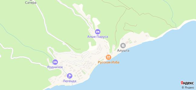 Сатера - объекты на карте