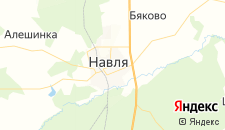 Отели города Навля на карте