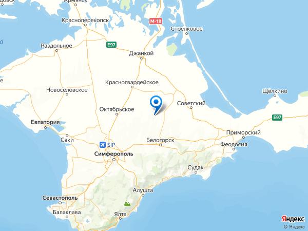 село Золотое на карте