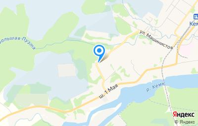 Местоположение на карте пункта техосмотра по адресу Респ Карелия, Кемский р-н, г Кемь, ул Шоссе 1 Мая