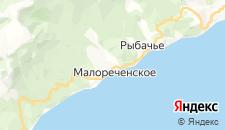 Гостиницы города Малореченское на карте