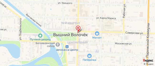 Карта расположения пункта доставки СИТИЛИНК в городе Вышний Волочек