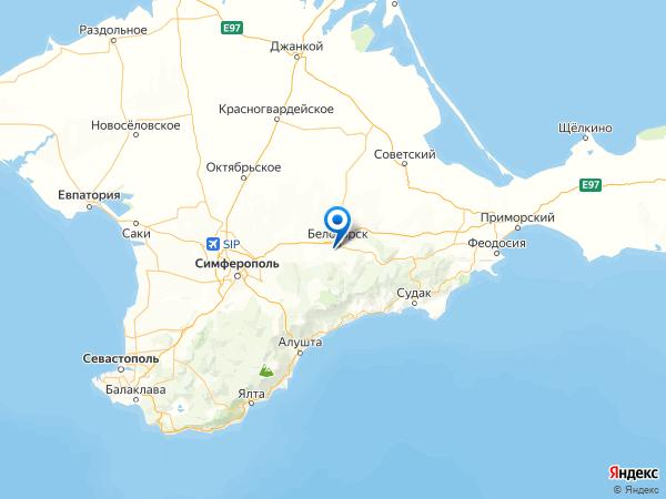 Белогорск на карте