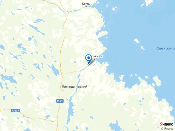 СТ Берег на карте