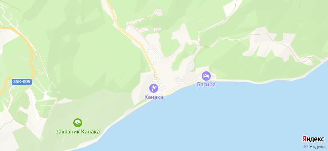 Канака - объекты на карте