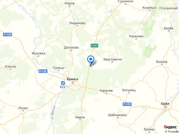 поселок Бобровский на карте