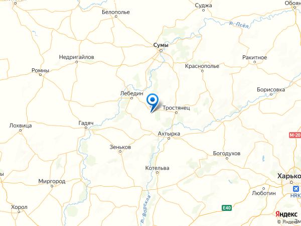 село Золотаревка на карте