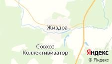 Отели города Жиздра на карте