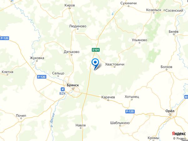 деревня Авдеевка на карте