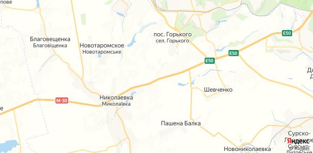Долинское на карте