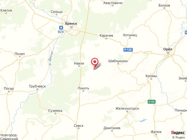 деревня Ждановка на карте