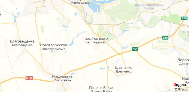 Горького на карте
