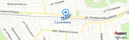 Банкомат КБ ПриватБанк на карте Днепропетровска