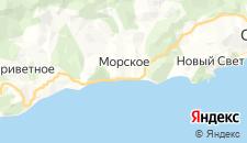 Гостиницы города Морское на карте