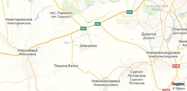 Шевченко на карте