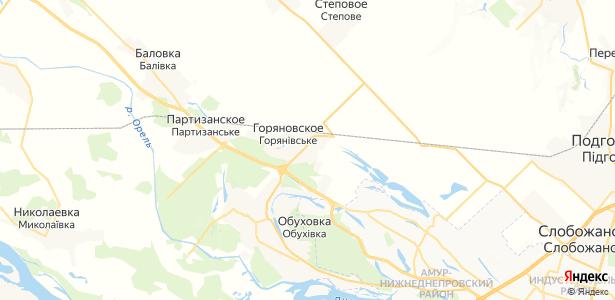 Горяновское на карте