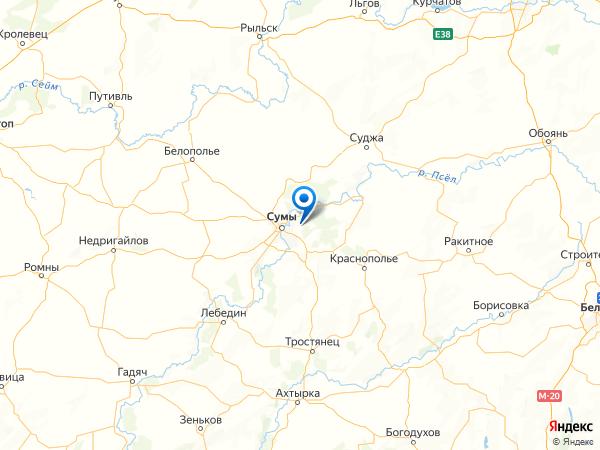 село Токари на карте
