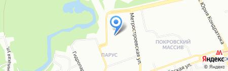Середня загальноосвітня школа №54 на карте Днепропетровска