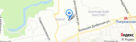Воронцовская вода на карте Днепропетровска
