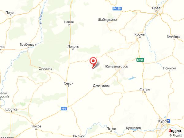 посёлок Кузнецовка на карте