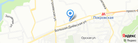 Червона рута на карте Днепропетровска