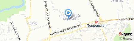 Середня загальноосвітня школа №97 ім. П.І. Шкідченко на карте Днепропетровска