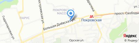 Трофимовский на карте Днепропетровска