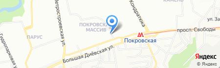 Изготовление ключей на карте Днепропетровска