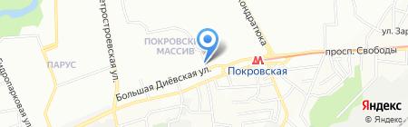 Благо на карте Днепропетровска
