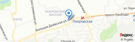 Дюкол на карте Днепропетровска