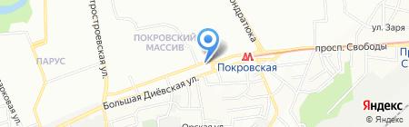 Банкомат Банк Кредит Днепр на карте Днепропетровска